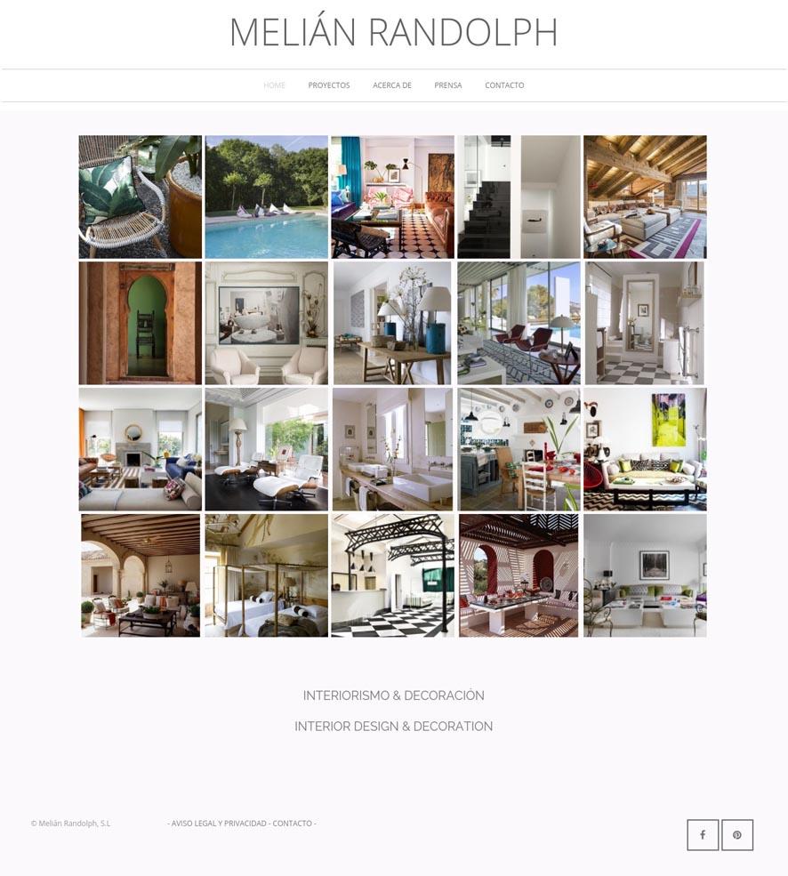 Whatever Marketing y Comunicación Online. Clientes y proyectos. Diseño Web y Estrategia de Social Media para Melián Randolph